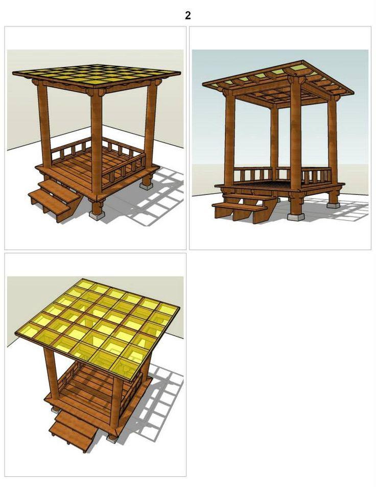 rumahSKETCH.com: Konsultasi : Gazebo/Pergola Atap Datar 2x2 M2 Uk Lantai