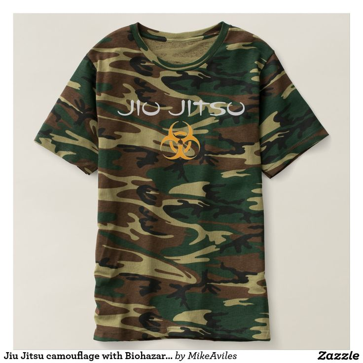 Jiu Jitsu camouflage with Biohazard symbol. Shirt