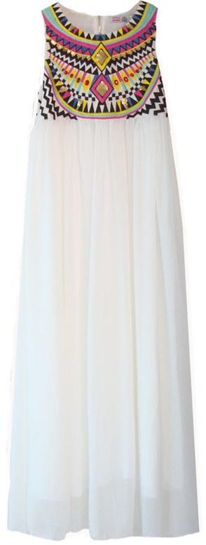 Threaded Maxi Dress