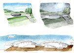 Design of new area Firenze Sud (watercolor)
