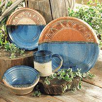 Ranchero Stoneware Dinnerware - 4 pcs
