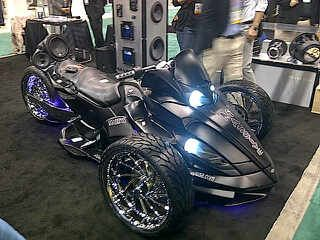 tricked out can am bikes | Can-Am Spyder with Massive Audio speakers