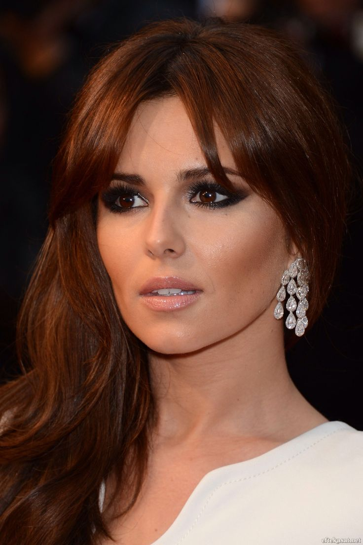 Obsessed with Cheryl Cole's Dark Copper hair color!!