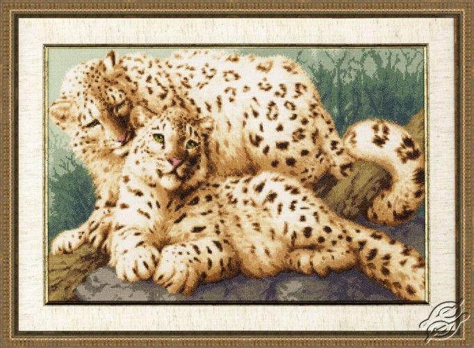 Snow Leopards - Cross Stitch Kits by ZOLOTOE RUNO - DZH-026