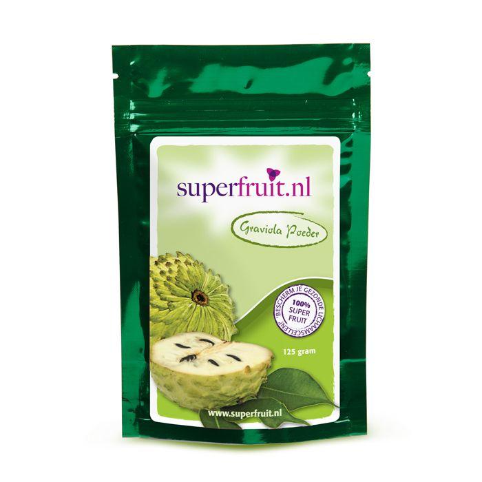 Graviola poeder (ook wel zuurzak of soursop)is afkomstig van het blad en is het 'superkruid' van het Amazone regenwoud. Graviola poeder geeft veel mensen net dat beetje 'extra' dat ze nodig hebben. Wilt u Graviola poeder kopen? Klik op de foto. Prijs per 125 gram: €19,95