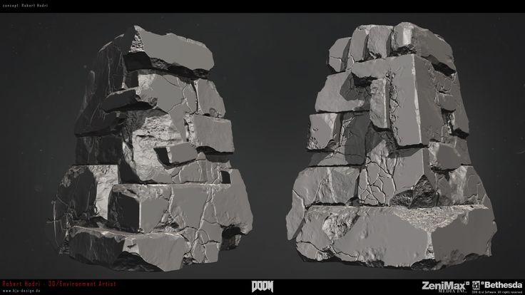 ArtStation - DOOM Hell Rocks, Robert Hodri