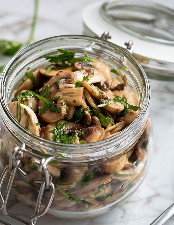 Flavored with fragrant garlic and fresh parsley, these marinated mushrooms make the perfect antipasti for your next dinner party or get-together. eatwell101.com