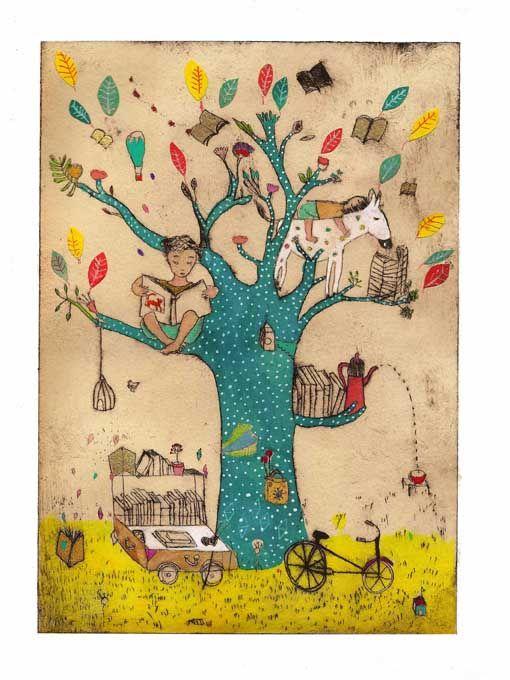 My reading tree / Mi árbol de la lectura (ilustración de Clothilde Stae)