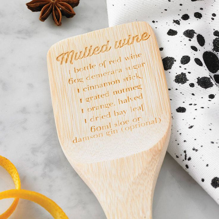 Mulled Wine Recipe Spatula