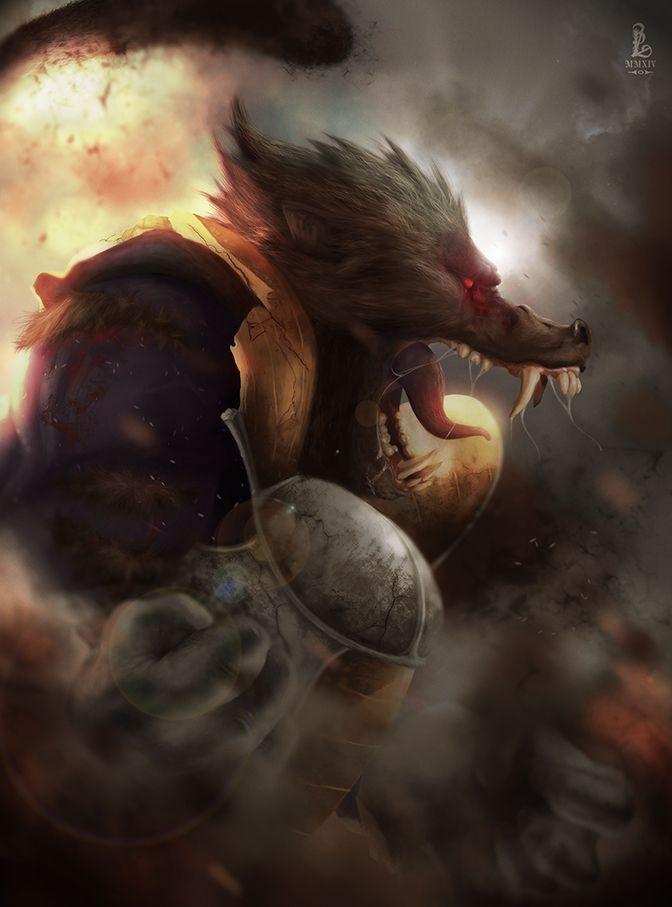 animé: Dragon Ball Z / Ape Vegeta by Jorge Loeza     / https://www.artstation.com/artwork/elwOJ