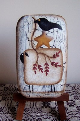 Primitive Handpainted Sheep Crow Soap by Primgal on Etsy, $4.50