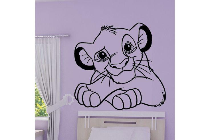 Sticker Roi Lion - Lionceau Simba Portrait