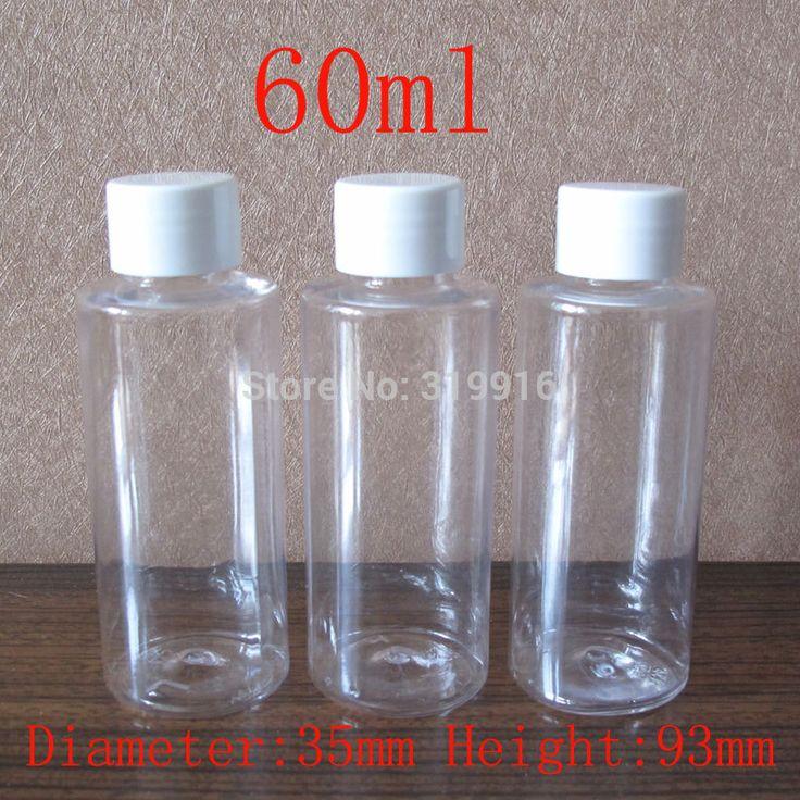60 мл х 50 пустая прозрачные круглые косметические пластиковые бутылки, Путешествия комплекты бутылки, Гель для душа контейнеры, 60 куб. см ясно пэт-бутылки