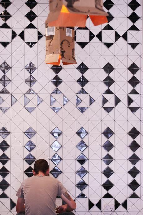 Spier Secret Courtyard, using 'Halfsquare' tiles. Layout by Renee Rossouw