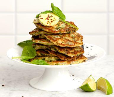 Recept: Gröna plättar med limesmör