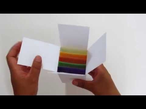 How to make a pop up card box tutorial FREE Card Template - YouTube