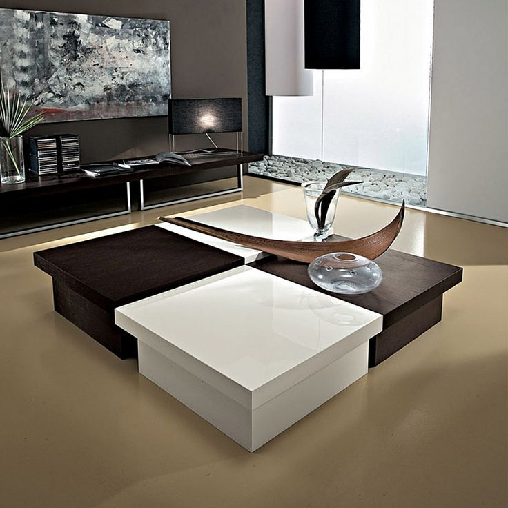 Large square coffee table with storage woodworking for Square coffee table plans
