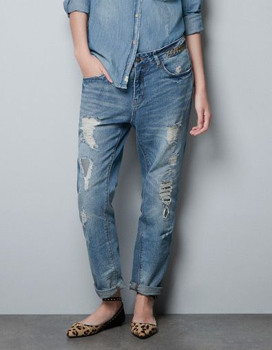 JEANS BAGGY TAGLI - Jeans - TRF - ZARA Italia