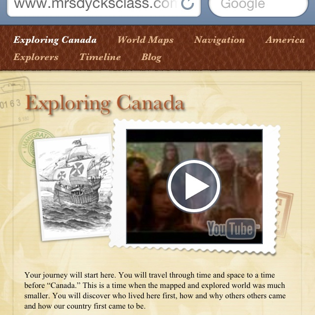 A unit for grade 4 social studies on exploration. Kids blog as explorers the unit is built around Passageways and Pathfinders student site. I found video I wanted them to use and the results were grade. This was last year. This year I am using it again. Not sure if we will blog and or make ebola diaries.