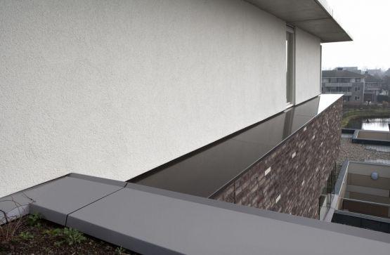 Roval | Specialist in aluminium bouwproducten voor dak & gevel. Maatwerkoplossing met muurafdekkers, waterslagen in combinatie met gevelstuc, metselwerk, groendak.