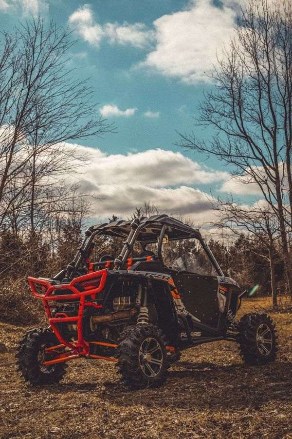 This RZR Turbo is decked with SuperATV, and carrying spares