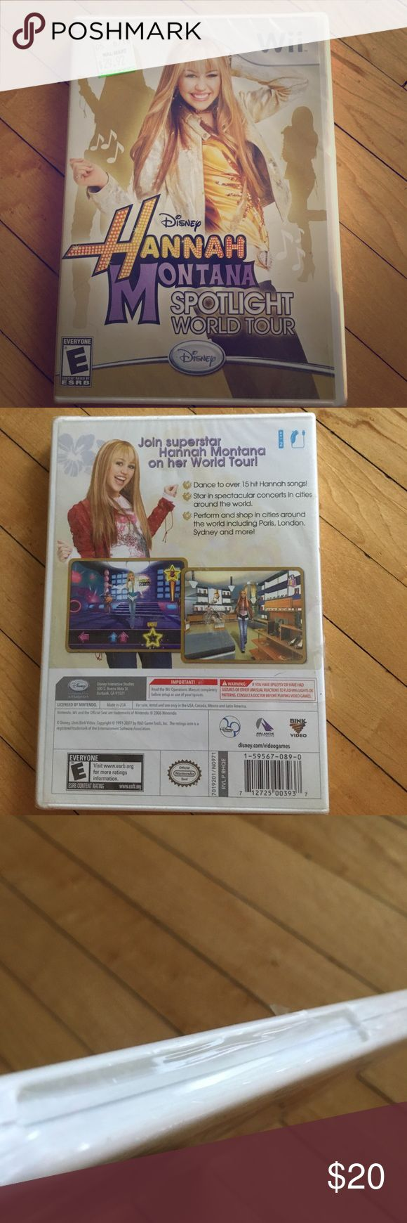 New with tags Girls Nintendo WII game, Disney Disney Hannah Montana spotlight world tour game. New in package. Rated E for  everyone. Disney Other
