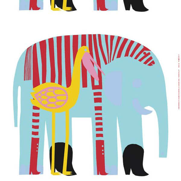 Karkuteillä fabric by Marimekko. Design by Maija Louekari.