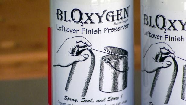 Bloxygen is an inert gas that blocks air and keeps leftover varnish fresh. From the experts at DIYNetwork.com.