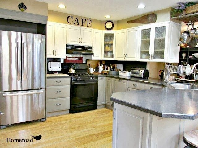 Luxury Painting Kitchen Cabinets with Chalkboard Paint