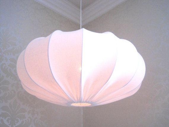 Lampshade Pendant lamp made in retro style White eco by Lampverket