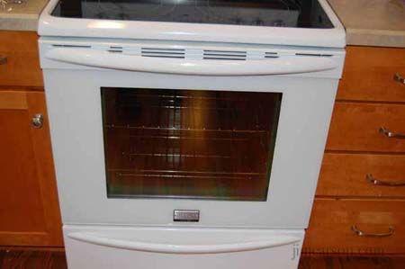 how to clean in between glass on oven door
