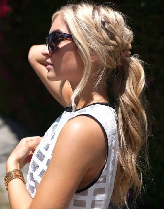 Beautiful Braided Ponytail Hair For Party Night