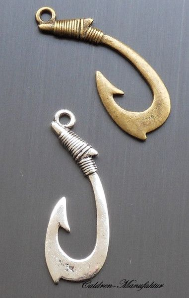 Weiteres - Anhänger Angelhaken Verschluss Silber Haken XL - ein Designerstück von Caldren bei DaWanda