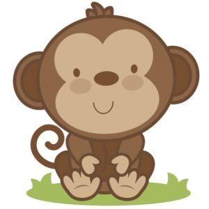 Daily Freebie 4-7-14: Miss Kate Cuttables--Baby Monkey SVG cutting file monkey…