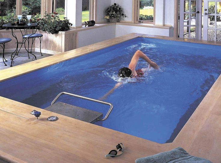 Creative Indoor Pools Design In Luxurious Hotel:Brown Indoor Pools With  Classic Round Coffee Table