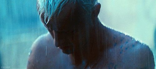 all those moments will be lost in time.. Gourmetillo <3 blade runner....