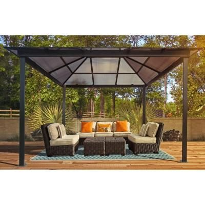 stc 10 ft x 13 ft madrid gazebo gz620h at the home depot tablet photography pinterest. Black Bedroom Furniture Sets. Home Design Ideas