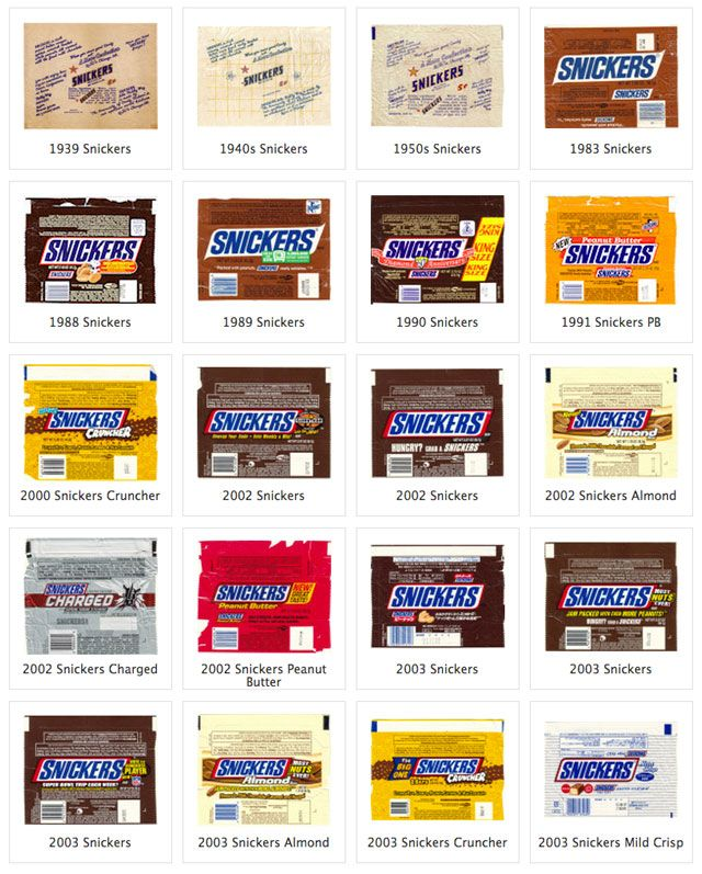 Snickers candy wrappers, perfect for resizing for miniatures