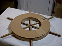 Diy -  how to make - beach - nautical - pirates wheel - board card - paper - decorations - project - handmade