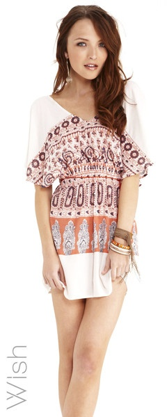 Wish Transience dress. Best selling shape by Wish. Stunning print detail. A great sleeve option $99.95