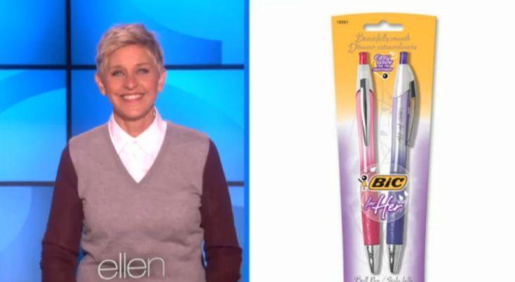 """Ellen Degeneres' Hilarious Rant on """"Lady Pens"""""""