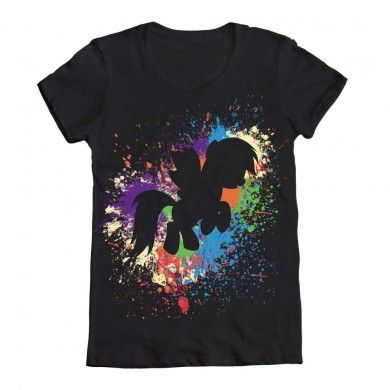 Rainbow Dash paint spatter shirt.  This would be cool to do to a canvas.