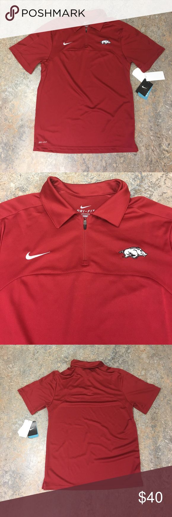 Arkansas Razorbacks Nike Dri Fit Polo Shirt Small Brand new with tags officially licensed Arkansas Razorbacks Nike men's Dri Fit polo shirt size small Nike Shirts Polos