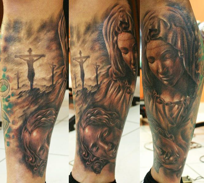 tattoo artist tibor galiger religious tattoo tattoos pinterest tattoo photos photos. Black Bedroom Furniture Sets. Home Design Ideas