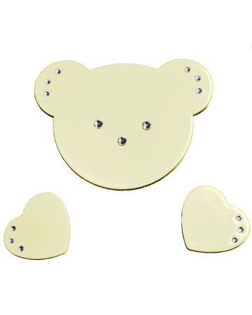 Baby Italia на комод Didi слоновая кость  — 2581р. ------------- Аппликация на комод Didi слоновая кость Baby Italia - инкрустирована стразами, клеится на верхний ящик комода. Размер мишки - 9х7 см. Размер сердечка -  3,5х3 см.