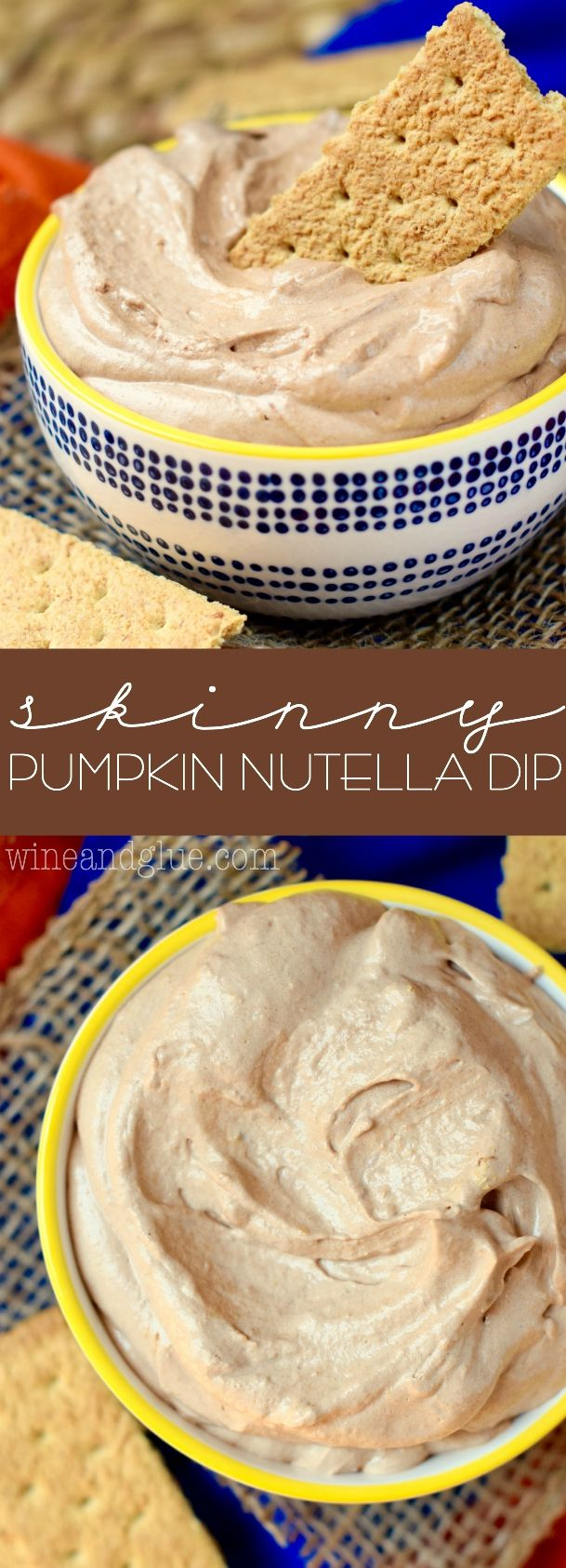 Skinny Pumpkin Nutella Dip   Three ingredients of pure deliciousness!