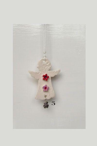Ceramic Angel redlavender flower  Empowered by DelabudCreations