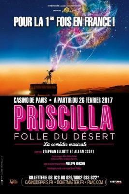 Priscilla Folle du Désert : la comédie musicale au Casino de Paris en 2017