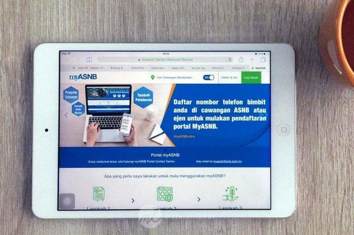 Asb Online Myasnb Cara Register Login Asnb Online Tablet