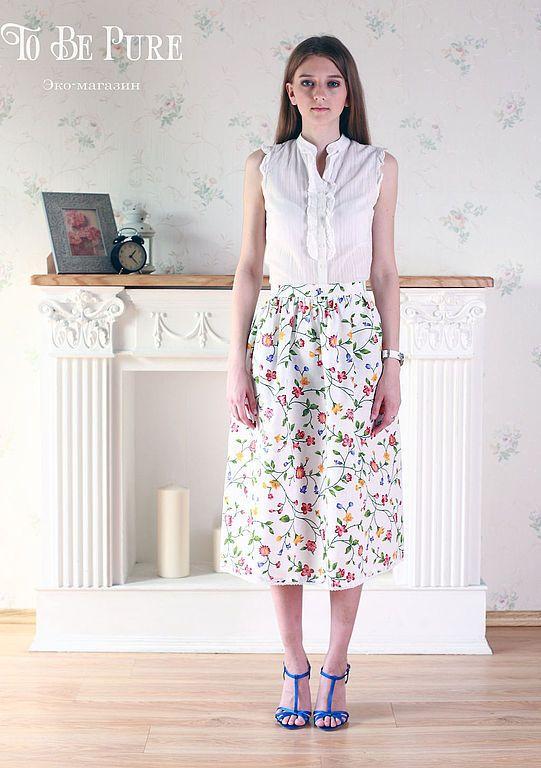 Купить Милая сердцу - белый, цветочный, ретро стиль, ретро-стиль, ретро, юбка с кружевом